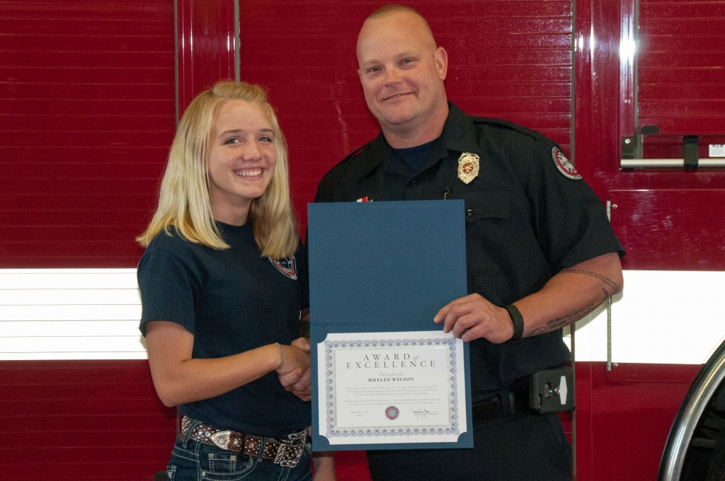 Award of Excellence winner, Cadet Rhylee Wilson.